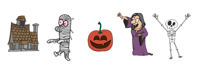 New VideoScribe Halloween images